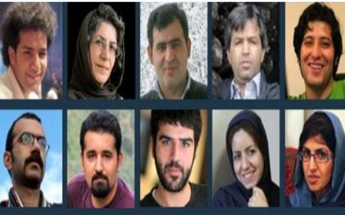 12 dei 14 giornalisti arrestati.