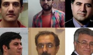 Partendo dall'alto da sinistra a destra: Loghman Moradian, Zaniar Moradian, Kourosh Ziari, Saeed Rezaei, Mohammad Ali (Pirouz) Mansouri, Masoud Bastani