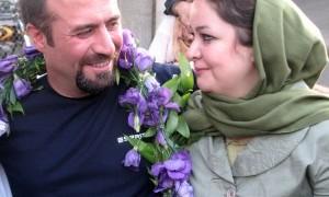Hossein Nooraninejad con la moglie