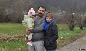 Soheil Arabi e la sua famiglia