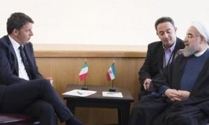 Matteo Renzi e Hassan Rouhani